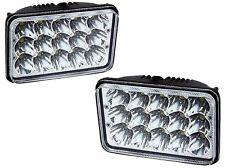 Pair 4X6 Sealed Beam LED Headlight Bulb Peterbilt 378 357 379 Kenworth