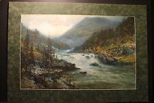 """William Joseph Wadham 1863-1950,"""" The Rapids """", ca.1920, Signed Watercolor"""