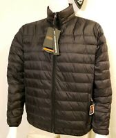 Hawke & Co Mens Jacket Sz M Packable Down Black Puffer Quilted New