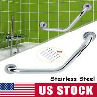 Thicken Bathroom Bathtub Grab Bar Safety Hand Rail For Bath Stainless Steel US