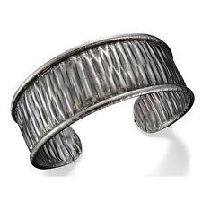 Pewter Etched - #Aj-B281 Anju Cuff Bracelet -