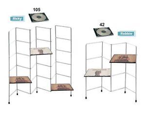 Chrome CD Media Storage Rack Tower 42 or 105 Disc Sizes