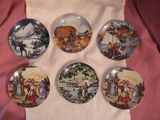 1985 Avon Mini Plates lot of 6 America Portraits Collection Don Sheffler