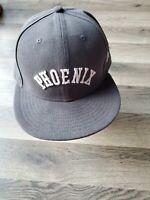 New Era Phoenix Suns Fitted Flat Bill Hat. Size 7 1/2