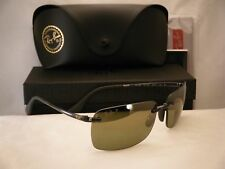 Ray Ban 4255 Shiny Grey w Green Mirror Polar Lens (RB4255 621/6O)