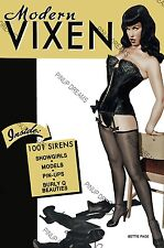 Bettie Page Betty Pin-up Cult Vintage Magazine Modern Vixen Cover Poster print