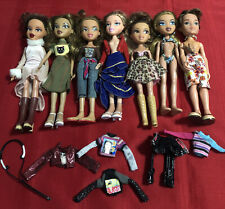 Bratz Mga Doll Lot Of 7 with Clothes And Shoes