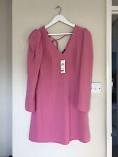 Miss Selfridge Barbie Pink Dress Long Sleeve BNWT 80s Look