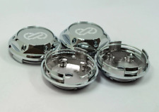 4pcs 68mm Silver Enkei Wheel Center Caps Hubcaps Rim Caps Emblems Decals Badges