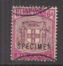 JAMAICA, 1911 Arms,  6d. Dull & Bright Purple, SPECIMEN, GABON RECEIVING, mng.