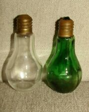 New ListingVintage Salt and Pepper Shakers: Light Bulb Shape Glass Shakers