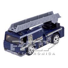 Camión Bomberos Americano Azul Escala 1:64 Policía Colección j232