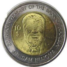 elf Namibia 10 Dollars 2010 Bimetallic Bank 20th