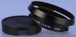 LEICA LEITZ 12504 LENS HOOD +HOOD CAP FOR 35MM F1.4/35MM F2 SUMMILUX SUMMICRON