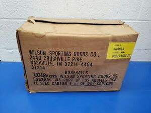 NOS Vintage Wilson Babe Ruth league baseball's Full Case 72 Baseballs