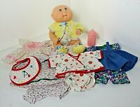 1993 CABBAGE PATCH PREEMIE Bath Care Doll with Outfits, Bottle Infant Immersible