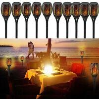 1-20pcs 96LED Solar Torch Light Flickering Dancing Flame Garden Waterproof Lamp