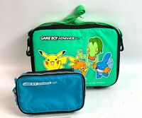 Nintendo GameBoy Advance SP 2 set Carrying Travel Case Bag Pokemon JAPAN Fedex