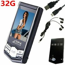 1.8inch 32GB MP4 MP3 Generation Music Media Player With Video Mic Hifi Headphone