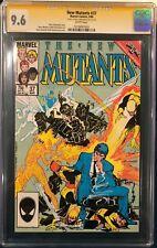 New Mutants #37 CGC SS 9.6 Bill Sienkiewicz SIGNED Comic book not cbcs x-men