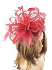 Burgundy Fascinator Hat For Weddings/Ascot/Proms With Headband SALE