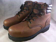 "NEW KNAPP MEN'S BACKHOE 6"" STEEL TOE BOOTS (K5020) BROWN 9 WIDE $110  NIB"
