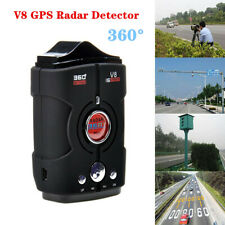 360°Car Trucker Speed V8 GPS Radar Detector 16 Band Camera Voice Security Device