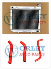 QLD Aluminum Radiator For ATV HONDA TRX450R TRX450 2004-2009 Red Silicone Hose