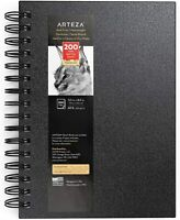 "ARTEZA Spiral Hard Cover Black Sketchbook 5.5"" x 8.5"", Open Stock"