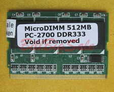 512MB X1 MicroDIMM for FUJITSU Lifebook P7000 P7010 P7016 ST502x MY PC2700 RAM 7