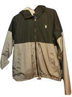 Men's Ralph Lauren Polo Jacket Black/Grey Zip Up Size Medium  Hoodies