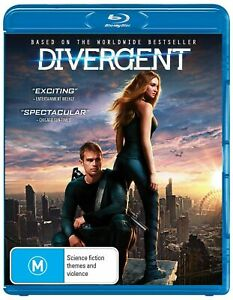 Divergent (Blu-ray,2014) -  Region B NEW+SEALED
