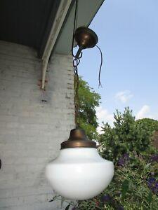 Vintage/Antique School House Globe Pendant light all original