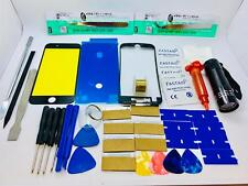 Screen Glass Repair Kit for iPhone 8 Plus Black, Adhesive, Frame, Opening Tools