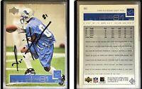 Az-Zahir Hakim Signed 2002 Upper Deck #60 Card Detroit Lions Auto Autograph