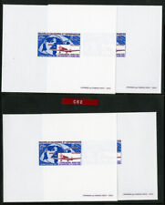 New Caledonia Stamps # C62 Deluxe Proofs Lot of 4