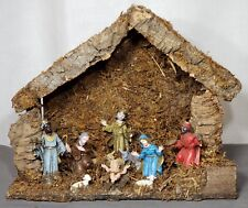 Vintage Nativity Scene Christmas 10 Piece Creche Made In Italy