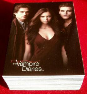 VAMPIRE DIARIES - Season 1 - COMPLETE BASE SET (63 Cards) - Cryptozoic 2011