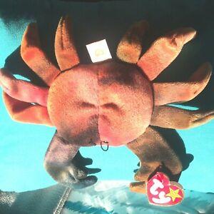 TY Beanie Babies Claude The Crab 1996 Rare W/Errors
