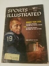 1959 SPORTS ILLUSTRATED JOHNNY UNITAS BALTIMORE COLTS FOOTBALL PREVIEW