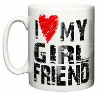 """Dirty Fingers Mug """"I Love Heart My Girlfriend, Yes She Bought Me This"""" Valentine"""