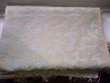 1mx1.45 green and cream scroll fabric