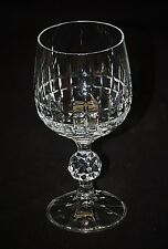 Crystal Ball Stemmed Wine Glass w Picket Fence Pattern Classic Glassware Barware