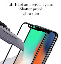 Blanco Anti-Inastillable/scratch/huella digital pantalla completa Protector de vidrio para iPhone X