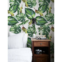Removable wallpaper Palm Leaves Self adhesive Floral Peel and stick Home Decor