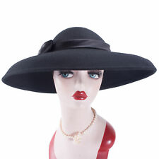 Women Vintage Look Wool Felt Floppy Wide Brim Dress Church Casual  Hat A508