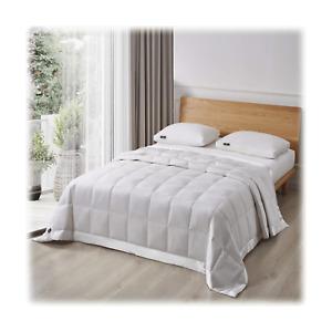 Serta Perfect Sleeper White Goose Feather & Down Fiber Blanket Full/queen