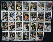 1991-92 O-Pee-Chee OPC Boston Bruins Team Set of 27 Hockey Cards