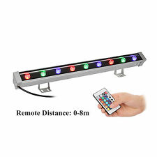 RGB LED Wall Washer Linear Light Bar 23.5 Inch Multicolor Waterproof with Remote