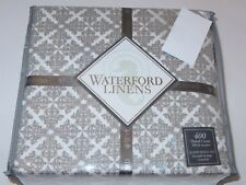 Waterford CAMRYN Medallion 4P Queen Sheet Set 400tc Taupe 21in Fitted